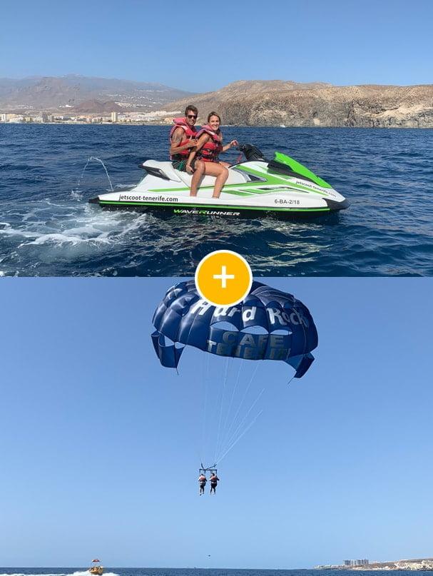 Moto de agua 1h + Parasailing Pack
