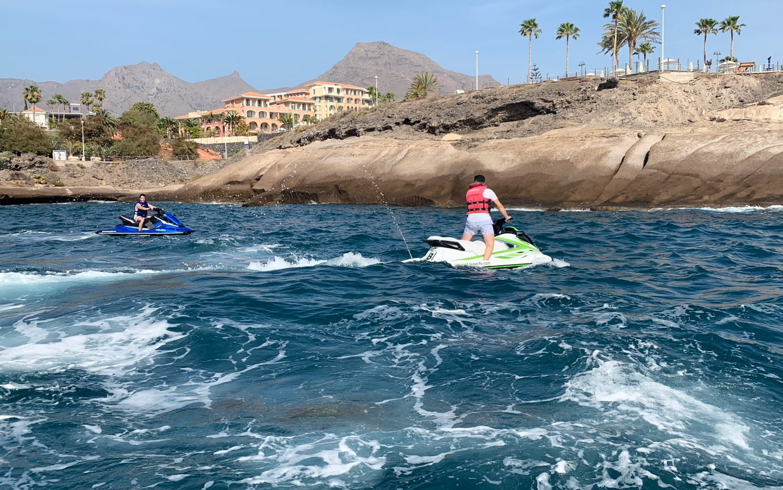 Jet ski with license rental Tenerife 3h 3
